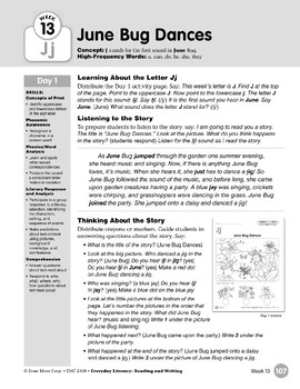 Week 13:  Initial Jj, No Final Sound (Everyday Literacy, Reading & Writing)