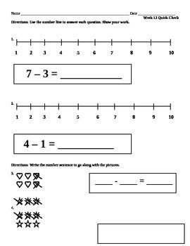 Week 13 Math Quick Check