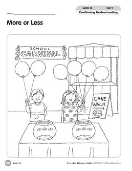 Week 13: More or Less (Everyday Literacy, Math)