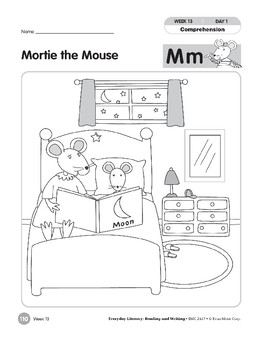 Week 13: Mortie the Mouse--Mm (Everyday Literacy, Reading & Writing)