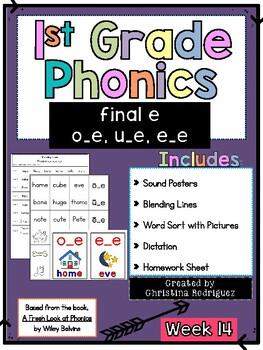 Week 14 - Final e (o_e, u_e, e_e) - 1st Grade Phonics