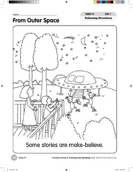 Week 14: From Outer Space (Everyday Literacy, Listening & Speaking)