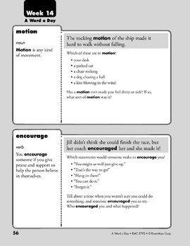 Week 14: motion, encourage, demand, pollution (A Word a Day)
