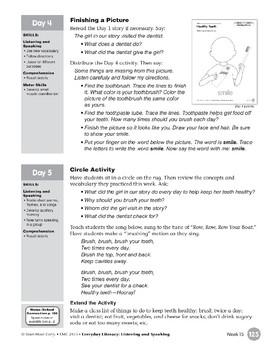 Week 15: Healthy Teeth (Everyday Literacy, Listening & Speaking)