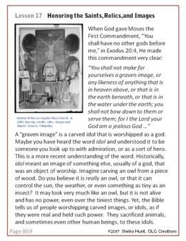 Week 15, St. Joseph Baltimore Catechism I, Worksheets, Lesson Plan & Answer Key