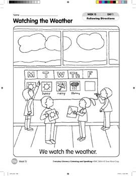 Week 15: Watching the Weather (Everyday Literacy, Listening & Speaking)