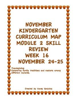 Week 16 Kindergarten Curriculum Aligned to Common Core Standards