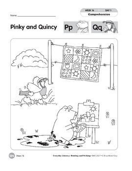 Week 16: Pinky and Quincy--Pp,Qq (Everyday Literacy, Reading & Writing)