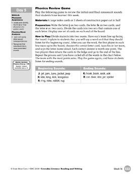 Week 16: Review It - Jj, Kk, Rr (Everyday Literacy, Reading & Writing)