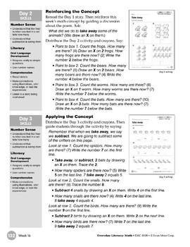 Week 16: Take Away (Everyday Literacy, Math)