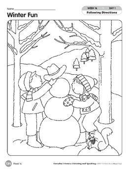 Week 16: Winter Fun (Everyday Literacy, Listening & Speaking)