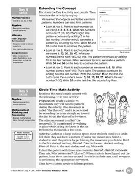 Week 17: Patterns (Everyday Literacy, Math)
