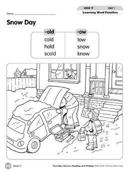 Week 17: Snow Day (Word Families -old,-ow)