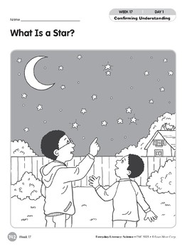 Week 17: What Is a Star? (Everyday Literacy, Science)