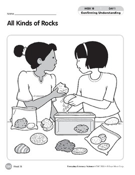 Week 18: All Kinds of Rocks (Everyday Literacy, Science)