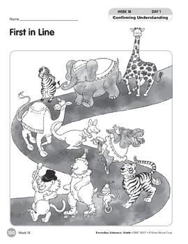 Week 18: First in Line (Everyday Literacy, Math)