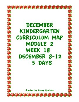 Week 18 Kindergarten Curriculum Aligned to Common Core Standards