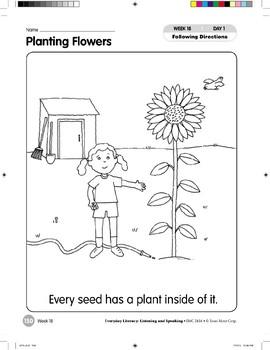 Week 18: Planting Flowers (Everyday Literacy, Listening & Speaking)