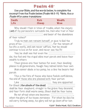 Week 18, St Joseph Baltimore Catechism I Lesson Plans, Worksheets & Answer Key