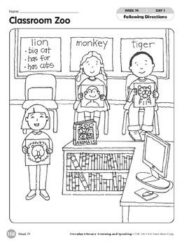 Week 19: Classroom Zoo (Everyday Literacy, Listening & Speaking)