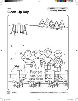 Week 19: Clean-Up Day (Everyday Literacy, Listening & Speaking)
