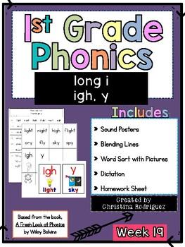 Week 19 - Long i (igh, y) - 1st Grade Phonics