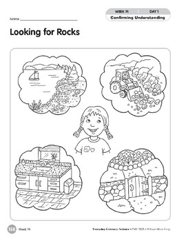Week 19: Looking for Rocks (Everyday Literacy, Science)