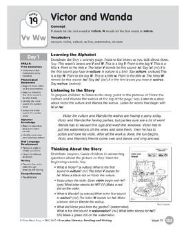 Week 19: Victor and Wanda--Vv,Ww (Everyday Literacy, Reading & Writing)