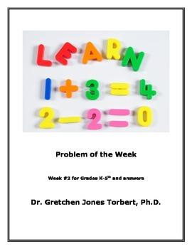 Week #2 POTW= Problem of the Week!