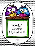 Spanish Sight Words Week 2