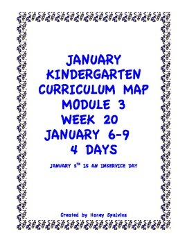 Week 20 Kindergarten Curriculum Aligned to Common Core Standards