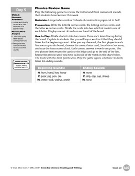 Week 20: Review It - Hh, Pp, Ww (Everyday Literacy, Reading & Writing)