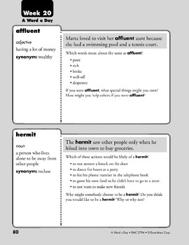Week 20: affluent, hermit, dapper, abscond (A Word a Day)