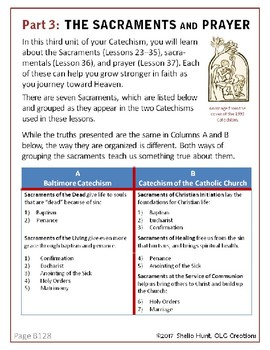 Week 21, St Joseph Baltimore Catechism, Lesson Plans, Worksheets & Answer Key