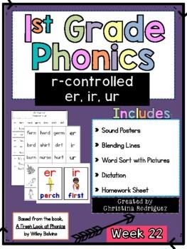 Week 22 - r-Controlled (er, ir, ur) - 1st Grade Phonics
