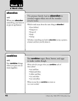 Week 23: abandon, combine, harmless, habit (A Word a Day)