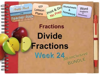 Week 24 Dividing Fractions 5th Grade Common Core Math Lessons