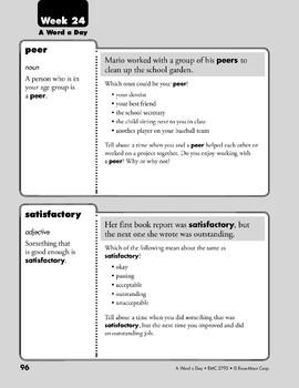Week 24: peer, satisfactory, respond, request (A Word a Day)