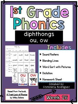 Week 26 - diphthongs ou, ow - 1st Grade Phonics