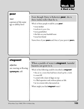 Week 26: maneuver, frantic, peer, stagnant (A Word a Day)