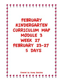 Week 27 Kindergarten Curriculum Aligned to Common Core Standards