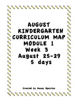 Week 3 Kindergarten Curriculum Aligned to Common Core Standards