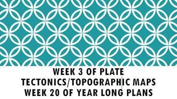 Week 3 Plate Tectonics/ Part 1 Topographic Maps