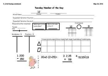Week 3 Texas TEKS 5th Grade Spiral Review