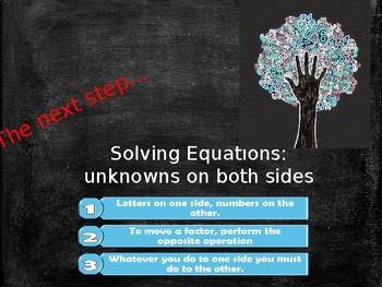 Week 3 of 8 week course Algebra Unknowns on both sides