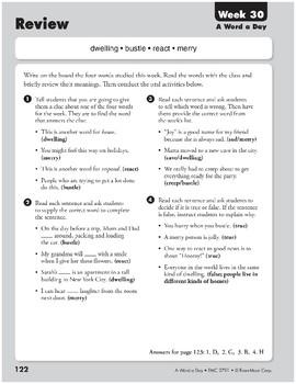 Week 30: dwelling, bustle, react, merry (A Word a Day)