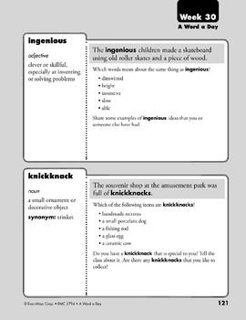 Week 30: hazardous, ventriloquist, ingenious, knickknack (A Word a Day)
