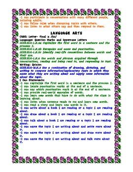Week 32 Kindergarten Curriculum Aligned to Common Core Standards