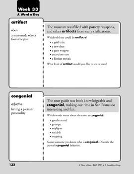 Week 33: artifact, congenial, mutter, metamorphosis (A Word a Day)