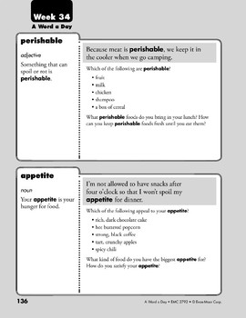 Week 34: perishable, appetite, audience, avoid (A Word a Day)
